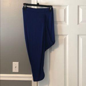 Blue hi low skirt